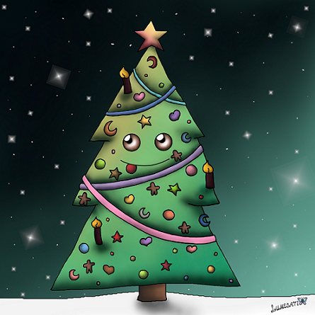 I've overworked my two years old Christmas tree, did a completly new coloring and changed some outlines. I think my art skills improved slightly, even within this year, for what I am really glad. Isn't this little tree feeling like the most beautiful tree in the world?